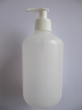 Plastic fles mat 500 ml incl dispencer Aktie !